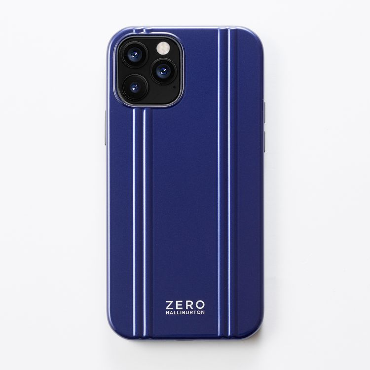 ZERO HALLIBURTON  iPhoneケース for iPhone 12/12 Pro(6.1 inch)Hybrid Shockproof Case/ブルー   81085