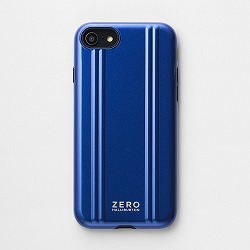 ZERO HALLIBURTON iPhoneケース for iPhone SE(第二世代)/8/7 Hybrid Shockproof Case/ブルー 81081