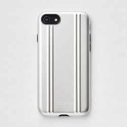 ZERO HALLIBURTON iPhoneケース for iPhone SE(第二世代)/8/7 Hybrid Shockproof Case/シルバー 81081