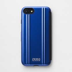 ZERO HALLIBURTON iPhoneケース(手帳型) for iPhone SE(第二世代)/8/7 Hybrid Shockproof Flip Case/ブルー 81082