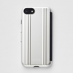 ZERO HALLIBURTON iPhoneケース(手帳型) for iPhone SE(第二世代)/8/7 Hybrid Shockproof Flip Case/シルバー 81082