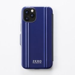 ZERO HALLIBURTON  iPhoneケース(手帳型) for iPhone 12 mini (5.4 inch)Hybrid Shockproof Flip Case/ブルー  81084