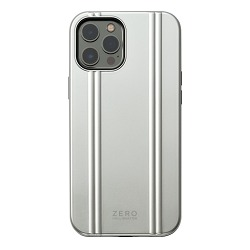 ZERO HALLIBURTON  iPhoneケース for iPhone 12 Pro Max(6.7 inch)Hybrid Shockproof Case/シルバー   81087